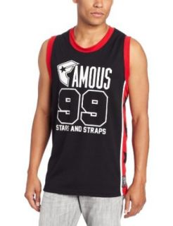 Famous Stars and Straps Men's Starred and Strapped Jersey, Black/Red/White, 2X at  Men�s Clothing store