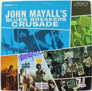 JOHN MAYALL BLUES BREAKERS CRUSADE SIGNED ALBUM COVER W/ VINYL PSA/DNA #Q45797 Entertainment Collectibles