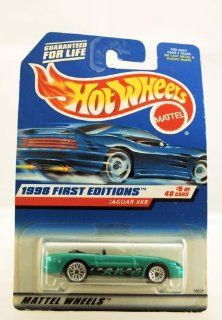 Hot Wheels   1998 First Editions   Jaguar XK8   #5 of 40 Cars   Green custom Paint   Collector #639   Limited Edition   Collectible Toys & Games
