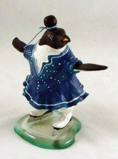 Antarctica Penguin on Ice Figure Skating Skates NeW   Collectible Figurines