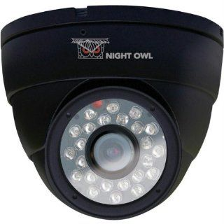 Night Owl Security CAM DM624 B Hi Resolution 600 TVL Security Dome Camera with 50 Feet of Night Vision (Black)  Home Security Systems  Camera & Photo