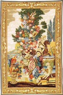 Tapestry, Extra Large, Tall   Elegant, Fine, French & Wall Hanging   Stillife with a Dog, H80xW55