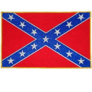 REBEL Awesome Beautiful Confederate Civil War Flag LARGE NEW Biker BACK Patch