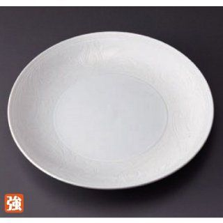dinner plate kbu750 33 652 [8.71 x 0.99 inch] Japanese tabletop kitchen dish Carved pasta dish white arabesque wound dish 7.0 [22.1 x 2.5cm] strengthening Restaurant Hotel Tableware commercial restaurant kbu750 33 652 Kitchen & Dining