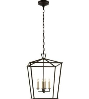 Visual Comfort and Company CHC2165AI E.F. Chapman Darlana 4 Light Pendants in Aged Iron With Wax   Ceiling Pendant Fixtures