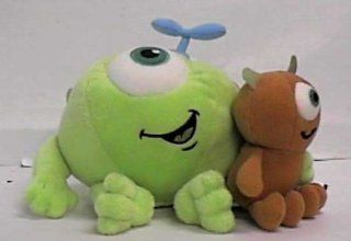 "Disney Monsters Inc. 7"" Mike Wazowski with Little Mikey Kid Plush By the  Toys & Games"