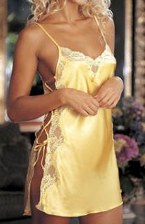 Shirley of Hollywood 20015 Charmeuse Lace Up Chemise
