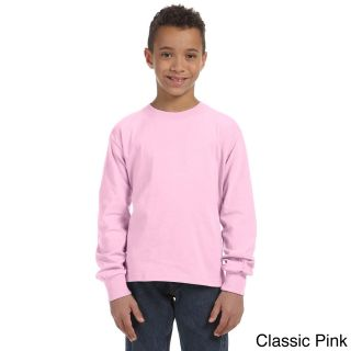 Fruit Of The Loom Fruit Of The Loom Youth Heavy Cotton Hd Long Sleeve T shirt Pink Size L (14 16)