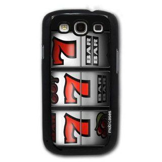 Casino Slot Machine 777   Protective Designer BLACK Case   Fits Samsung Galaxy S3 SIII i9300 Cell Phones & Accessories