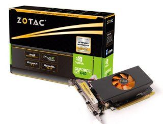 ZOTAC GeForce GT 640 2GB GDDR5 64 Bit PCI Express 3.0 HDMI DVI VGA Low Profile Graphics Card ZT 60209 10L Computers & Accessories
