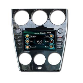 OEM REPLACEMENT IN DASH RADIO DVD Gps NAVIGATION HEADUNIT FOR MAZDA6 2006 2007 2008(MANUAL AC ONLY) WITH REAR VIEW CAMERA  In Dash Vehicle Gps Units  GPS & Navigation