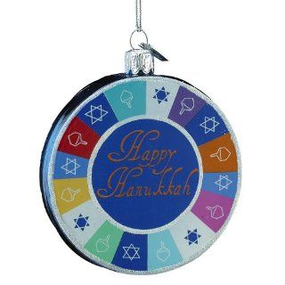 Kurt Adler Noble Gems Hanukkah Ornament, 3.25 Inch   Decorative Hanging Ornaments