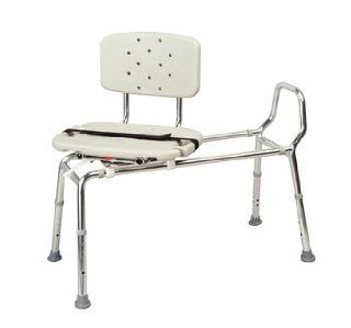 Sammons Preston Eagle Health Heavy Duty Sliding Transfer Bench with Swivel Seat (Non Padded Seat  ) Health & Personal Care