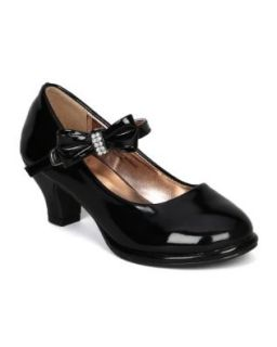 Little Angel Tasha 685E Patent Bow Mary Jane Pump (Toddler/Little Girl /Big Girl)   Black (Size Toddler 9) Shoes