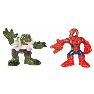 Spiderman Super Hero Squad   Lizard and Spider man 2 Pack Toys & Games