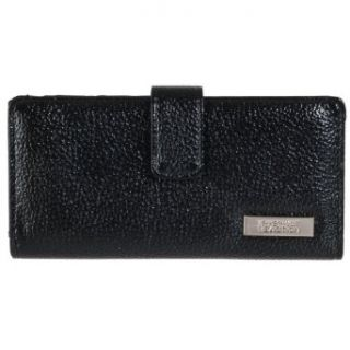 Kenneth Cole Reaction Womens Slim Snap Clutch Wallet, Black