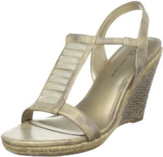 AK Anne Klein Women's Virtruos Wedge Sandal Shoes