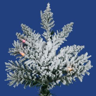 Vickerman Co. Flocked Utica Fir 6.5 Artificial Christmas Tree with