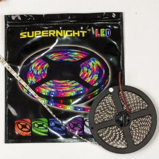 SUPERNIGHT (TM) Warm White Double Density 600 LEDs Flexible Light Strip, 3528 SMD, 5 Meter or 16.4 Ft 12 Volt led light