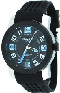Omax Supreme #TS670 Men's Stainless Steel Black Dial Silicone Band Casual Sports Watch at  Men's Watch store.