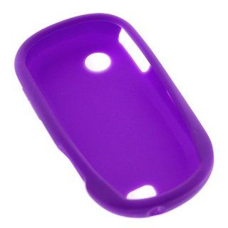 GTMax Purple Soft Rubber Silicone Skin Cover Case for AT&T Samsung Sunburst SGH A697 GSM Cell Phone Cell Phones & Accessories