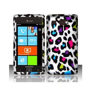 Silver Colorful Leopard Hard Cover Case for Samsung Focus Flash SGH I677 Cell Phones & Accessories
