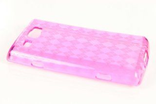Samsung Focus Flash i677 TPU Hard Skin Case Cover for Hot Pink + Earphone Cord Winder Cell Phones & Accessories
