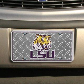 LSU Tigers Diamond Plate Style License Plate Patio, Lawn & Garden