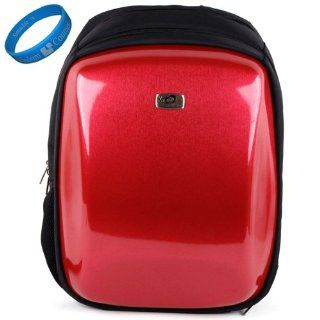 Red Protective Backpack Carrying Case for MSI GT683R 242US 15.6 Inch Laptop + SumacLife TM Wisdom Courage Wristband Computers & Accessories