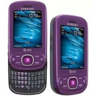 Samsung Strive A687 Unlocked GSM Slider Phone , Full QWERTY Keyboard, 2MP Camera, A GPS, Bluetooth and microSD Slot   Purple Cell Phones & Accessories