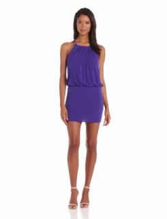 laundry BY SHELLI SEGAL Women's Sleeveless Blouson Dress with Neck Hardware