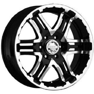 Gear Alloy Double Pump 16x8 Black Wheel / Rim 5x4.5 with a 0mm Offset and a 83.82 Hub Bore. Partnumber 713MB 6806500 Automotive