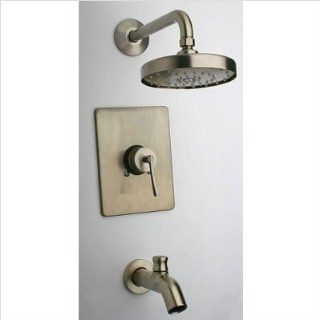 Latoscana TC81PW697 Brushed Nickel Morellino Latoscana Single Handle Tub & Shower Faucet   Tub And Shower Faucets