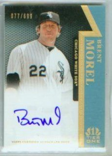 Brent Morel Autograph 2011 Topps Tier One Baseball On The Rise Card #OR BM & #/699 Signed / Chicago White Sox at 's Sports Collectibles Store