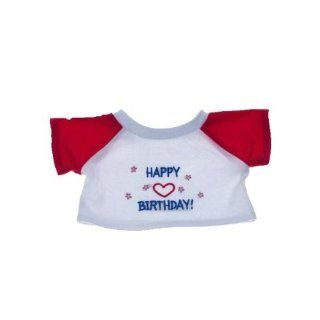 "Happy Birthday T Shirt Outfit Teddy Bear Clothes Fit 14""   18"" Build a bear, Vermont Teddy Bears, and Make Your Own Stuffed Animals Toys & Games"