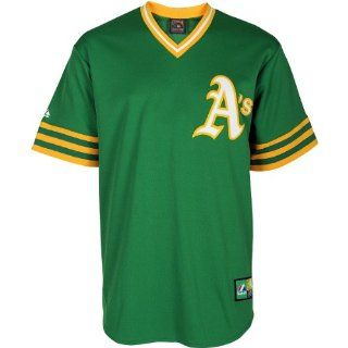 Reggie Jackson Oakland Athletics Majestic Green Throwback Replica Jersey  Sports & Outdoors