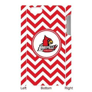 Ncaa Louisville Cardinals Custom White Red Chevron Iphone 5 or 5s Hard Case Cover Cell Phones & Accessories