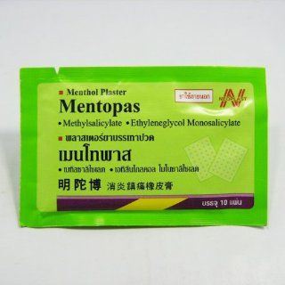 Mentopas, Menthol Relieving Patch Sheets Relief Pain & Relief Muscle Aches Relief Lower Back Pain 10 Sheets X 6 Packs Health & Personal Care
