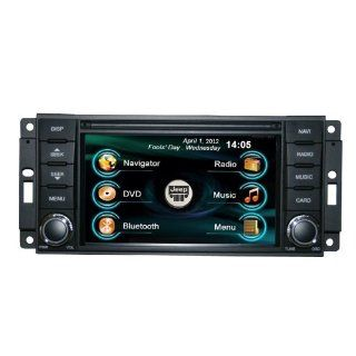 OEM REPLACEMENT IN DASH RADIO DVD GPS NAVIGATION HEADUNIT FOR JEEP WRANGLER RUBICON WITH REAR VIEW CAMERA  In Dash Vehicle Gps Units  GPS & Navigation