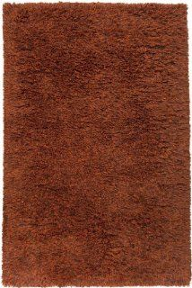 5' x 8' Simplistic Shades Burnt Orange Hand Woven Wool Area Throw Rug   Handmade Rugs