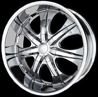 "New 18"" x 7.5"" inch Velocity ""725"" Chrome Wheels Rims Automotive"
