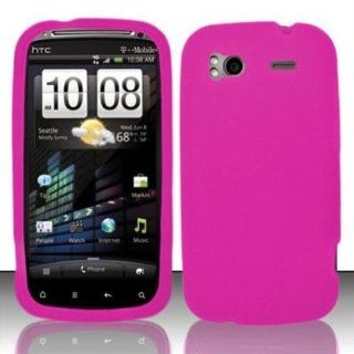 Hot Pink Silicon Case for HTC HTC Sensation 4G Cell Phones & Accessories