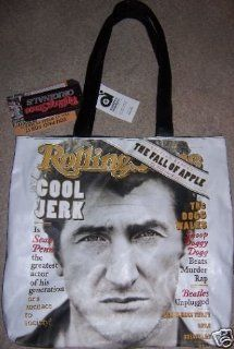 Sean Penn Rolling Stone Magazine Cover Limited Edition Tote Bag  Cosmetic Tote Bags  Beauty