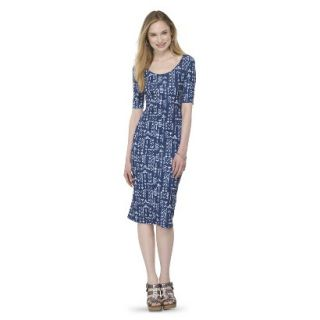 Mossimo Supply Co. Juniors Printed Midi Dress   Blue Tribal XS(1)