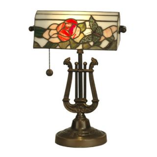 Dale Tiffany Broadview Bankers 1 Light Table Lamp