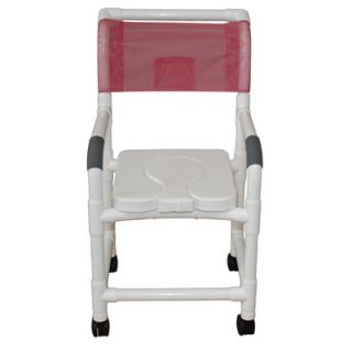 MJM International Standard Deluxe Shower Chair with Dual Use Soft Seat