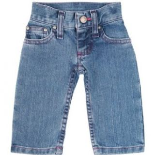 Wrangler Baby Girls Five Pocket Styling with Embroidery and Patch Jean Clothing