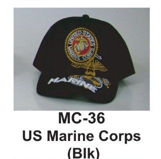 Brand New Embridered Military Caps Hats Us Marine Corps (Black) Officially Licensed