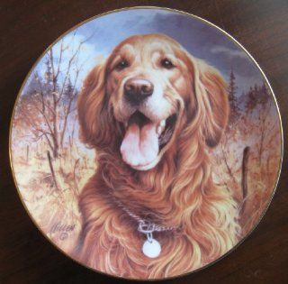 """Golden Retriever"" Collectible Plate by Jim Killen  Other Products"