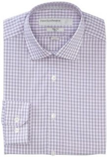 Perry Ellis Men's Premium Window Pane Plaid Modern Fit Dress Shirt, Purple Heart, 15.0 323 at  Men�s Clothing store